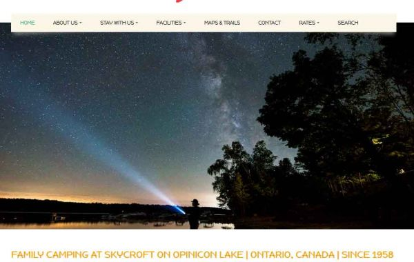 Website Design Kingston | Portfolio | Skycroft Campground