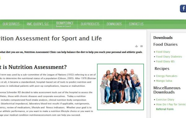 Website Design Kingston | Portfolio | Nutrition Assessment Clinic