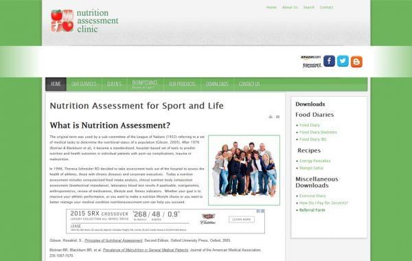 Web Design Kingston | Our Portfolio | Nutrition Assessment Clinic