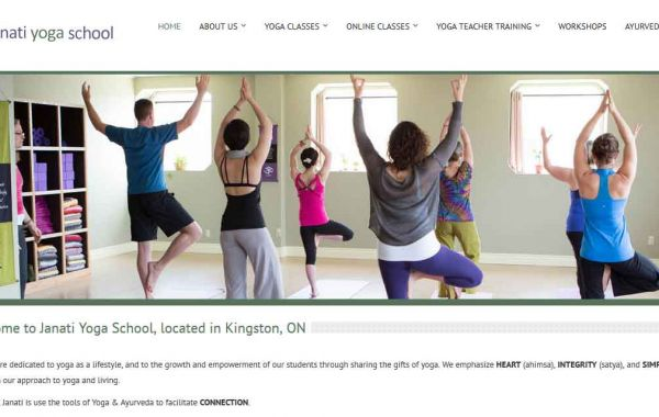 Website Design Kingston | Portfolio | Janati Yoga School