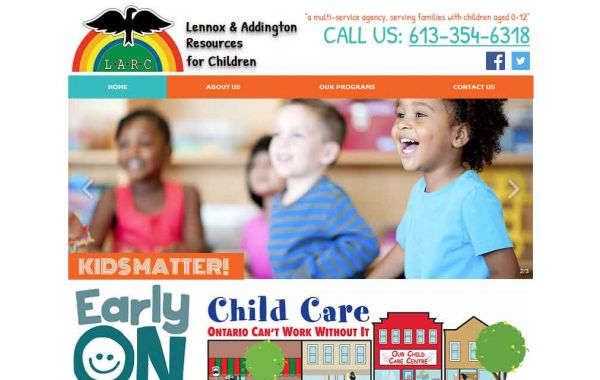 Website Design Kingston | Portfolio | LARC4KIDS