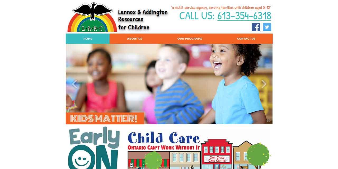 Website Design Kingston   Portfolio   LARC4KIDS