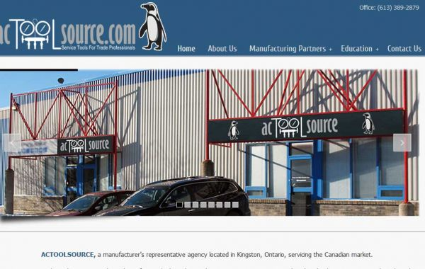 Website Design Kingston | Portfolio | AC Tool Source