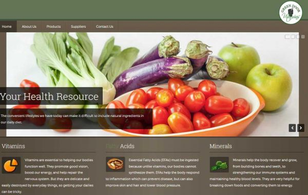 Website Design Kingston | Portfolio | Green Door Vitamins