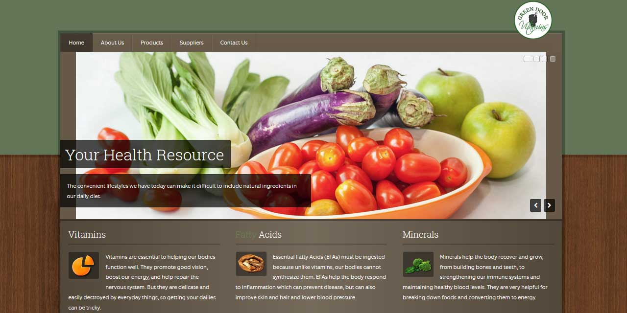Website Design Kingston   Portfolio   Green Door Vitamins