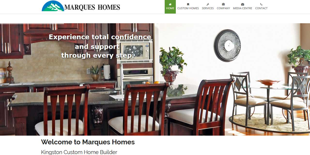 Website Design Kingston | Portfolio | Marques Homes
