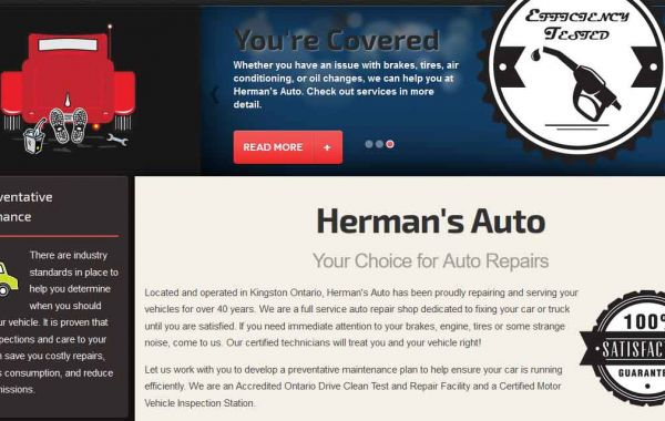 Website Design Kingston | Portfolio | Herman's Auto