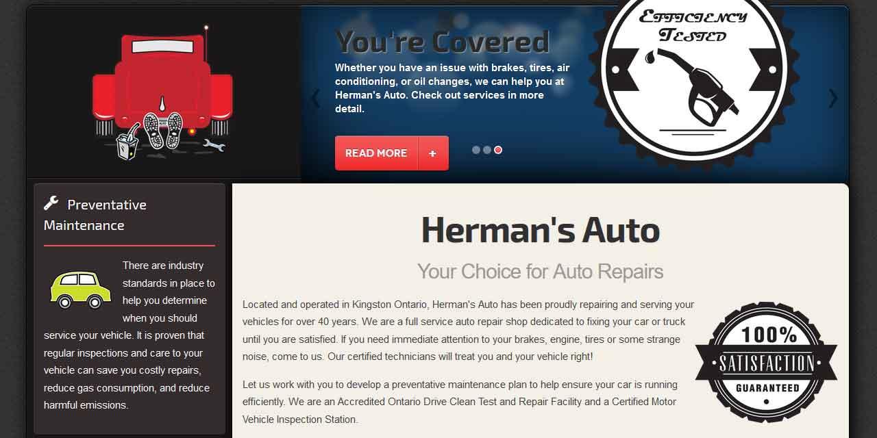 Website Design Kingston   Portfolio   Herman's Auto