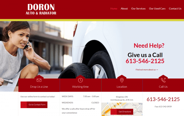 Web Design Kingston | Our Portfolio | Doron Auto and Radiator