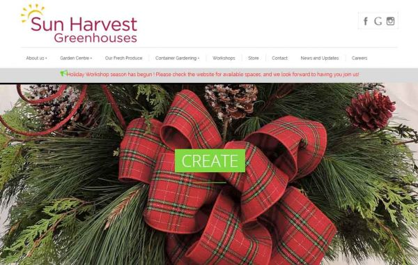 Website Design Kingston | Portfolio | Sun Harvest Greenhouses