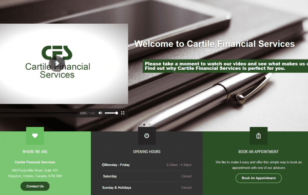 Web Design Kingston | Our Portfolio | Cartile Financial Services
