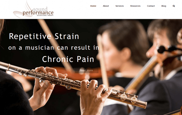 Web Design Kingston | Our Portfolio | Sound Performance Occupational Therapy