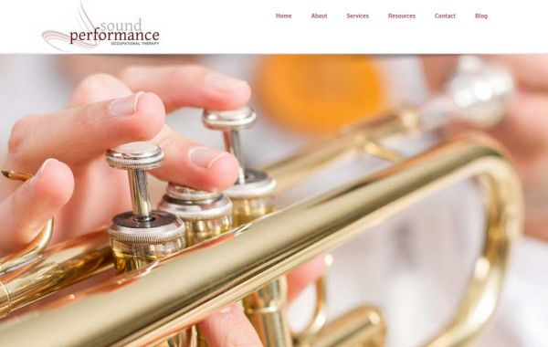Website Design Kingston | Portfolio | Sound Performance: Occupational Therapy