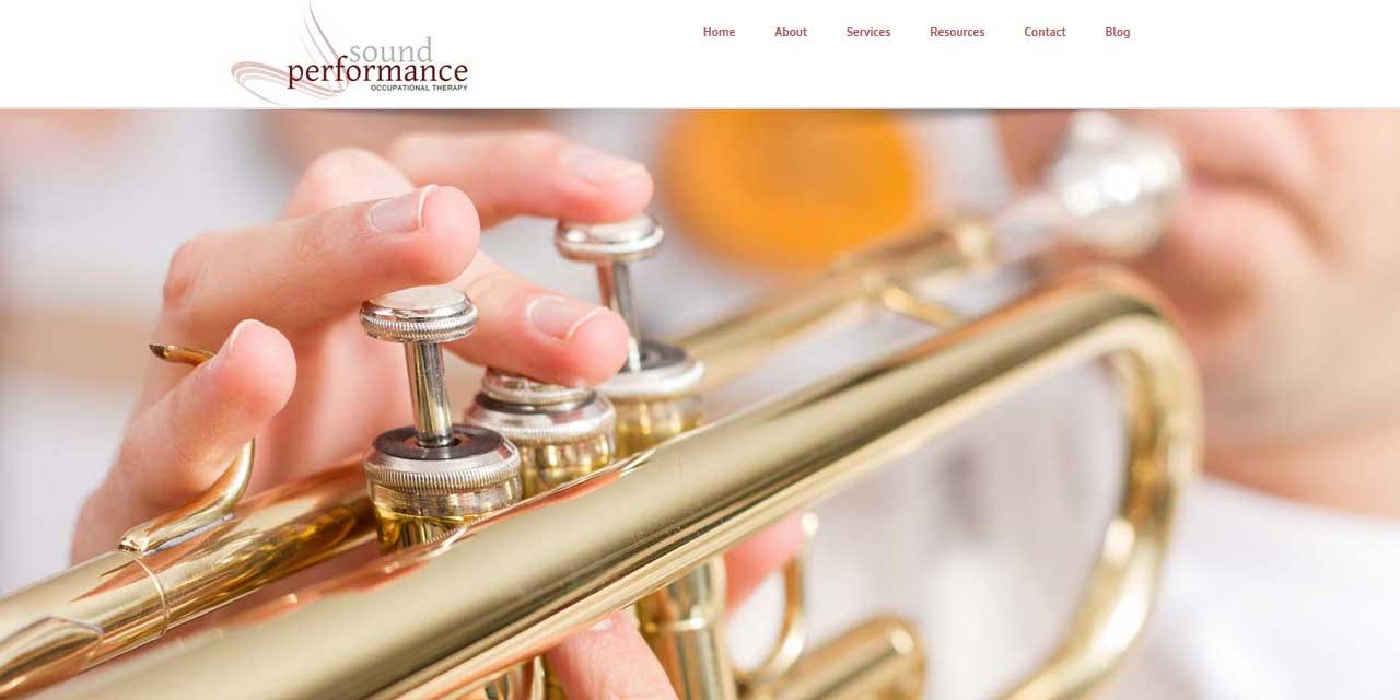 Website Design Kingston   Portfolio   Sound Performance: Occupational Therapy