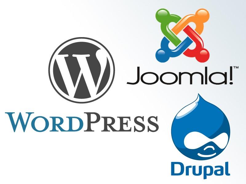 which CMS wordpress joomla or drupal