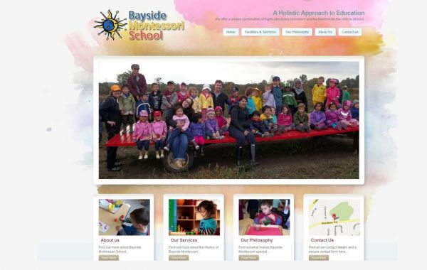 Web Design Kingston | Our Portfolio | Bayside Montessori School