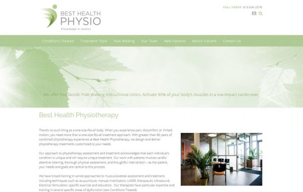 Web Design Kingston | Our Portfolio | Best Health Physio