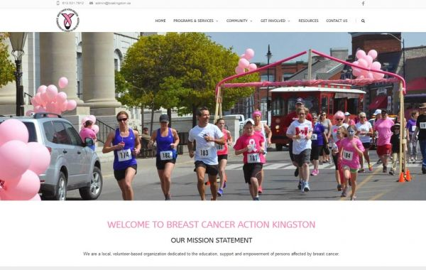 Web Design Kingston | Our Portfolio | Breast Cancer Action Kingston