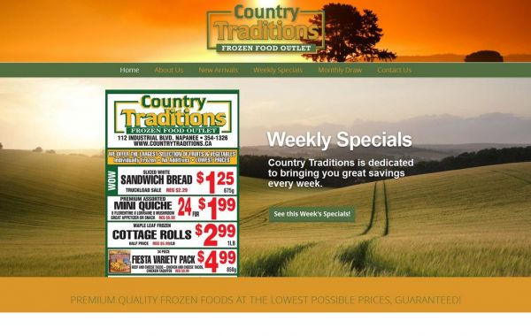 Web Design Kingston | Our Portfolio | Country Traditions