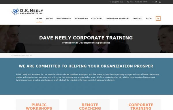 Web Design Kingston | Our Portfolio | D.K. Neely and Associates