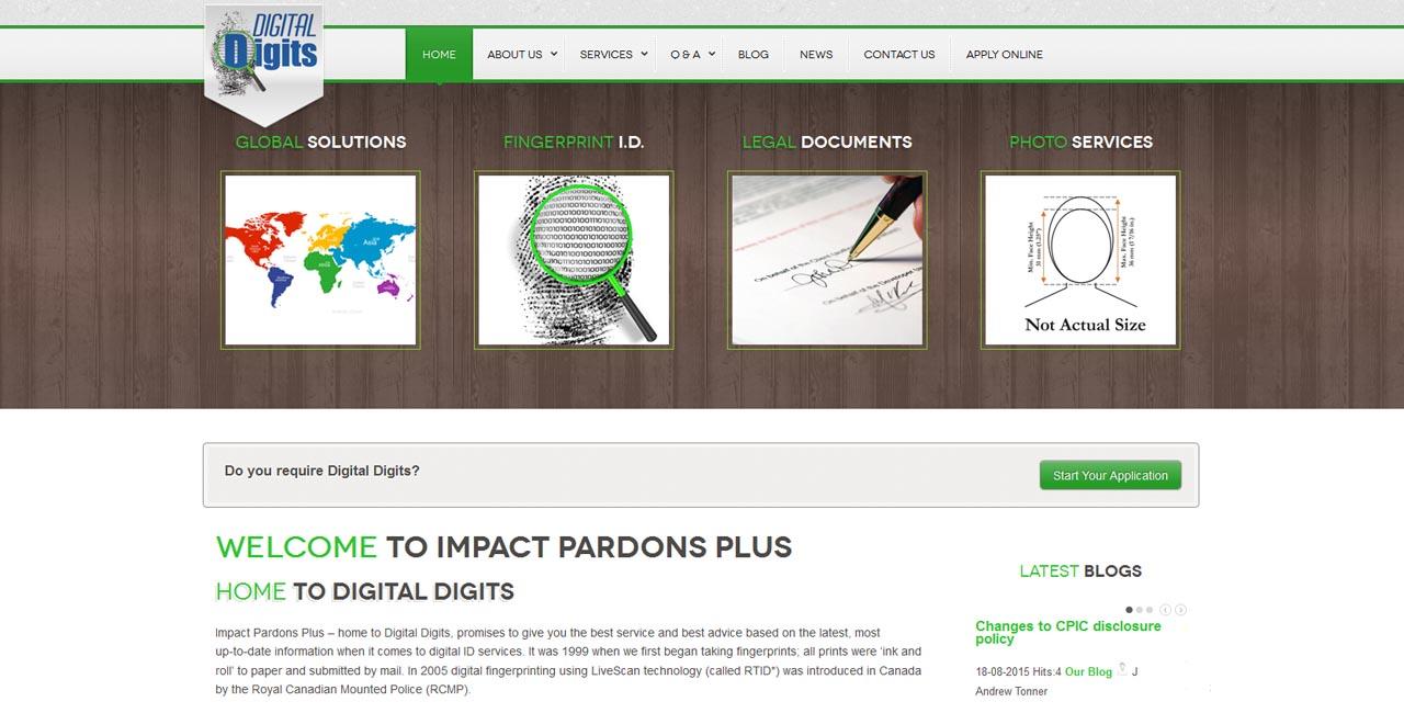 web design kingston portfolio impact pardons criminal pardons