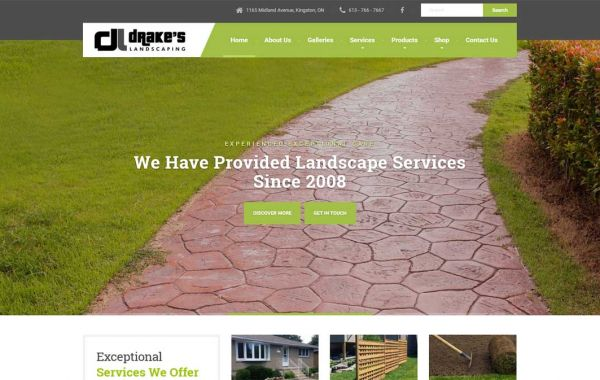 Web Design Kingston | Our Portfolio | Drakes Landscaping