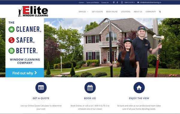Web Design Kingston | Our Portfolio | Elite Window Cleaning