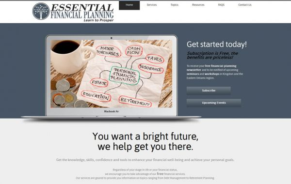 Web Design Kingston | Our Portfolio | Essential Financial Planning