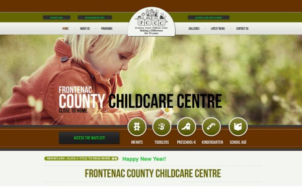 Web Design Kingston | Our Portfolio | Frontenac County Childcare Centre
