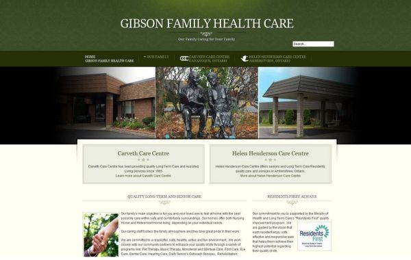 Web Design Kingston | Our Portfolio | Gibson Family Health Care