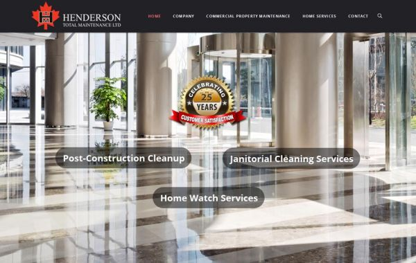 Web Design Kingston | Our Portfolio | Henderson Total Maintenance