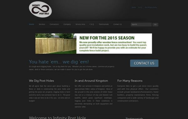 Web Design Kingston | Our Portfolio | Infinity Post Hole