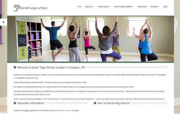 Web Design Kingston | Our Portfolio | Janati Yoga School