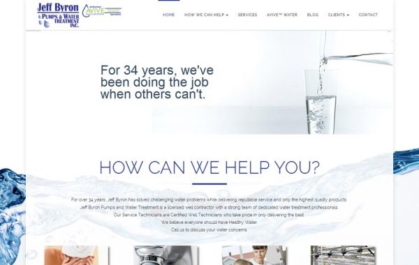Web Design Kingston | Our Portfolio | Jeff Byron Pumps and Water Treatment