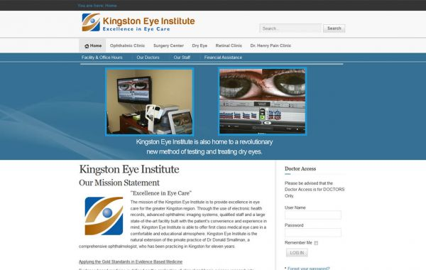 Web Design Kingston | Our Portfolio | Kingston Eye Institute