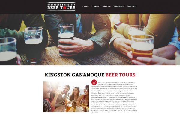 Web Design Kingston | Our Portfolio | Gananoque and Kingston Beer Tours