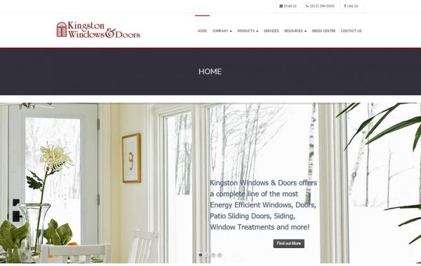 Web Design Kingston | Our Portfolio | Kingston Windows and Doors