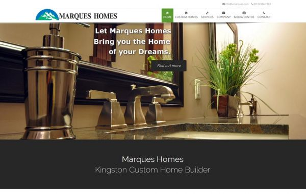 Web Design Kingston | Our Portfolio | Marques Homes