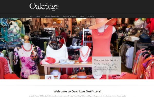 Web Design Kingston | Our Portfolio | OakRidge Outfitters