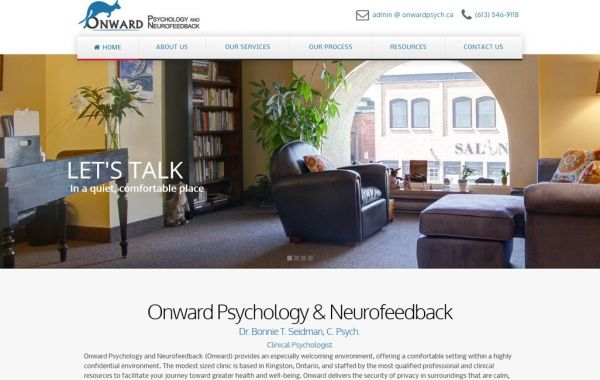 Web Design Kingston | Our Portfolio | Onward Psychology Neurofeedback