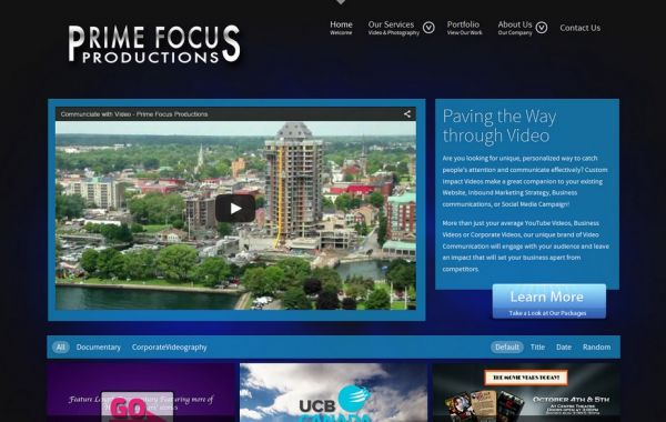 Web Design Kingston | Our Portfolio | Prime Focus Productions