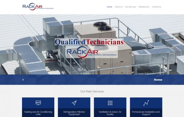 Web Design Kingston | Our Portfolio | Rack Air HVAC Systems