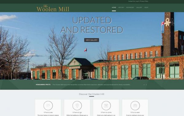Web Design Kingston | Our Portfolio | The Woolen Mill
