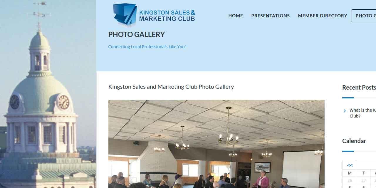 Website Design Kingston   Portfolio   Kingston Sales and Marketing Club