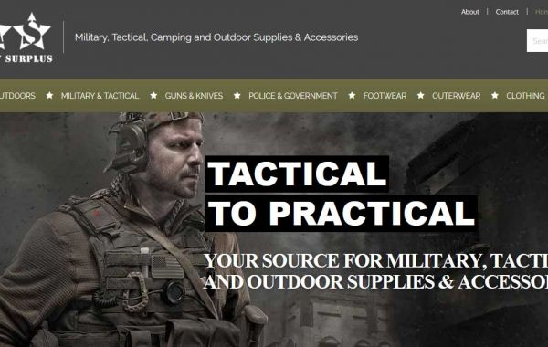 Website Design Kingston | Portfolio | Smith Army Surplus Kingston