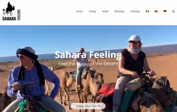 Website Design Kingston | Sahara Feeling