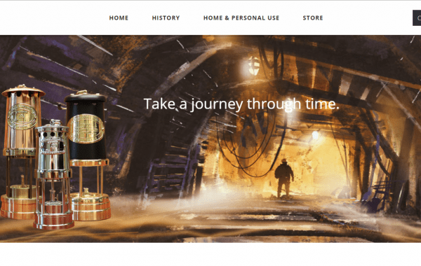 Web Design Kingston | Davylamp Antique Mining Lamps