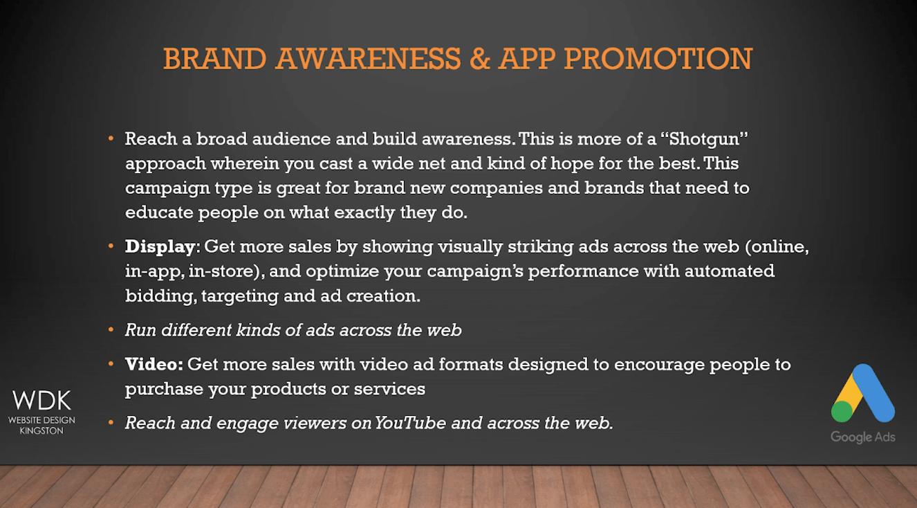 Google Ads Brand Awareness   Website Design Kingston