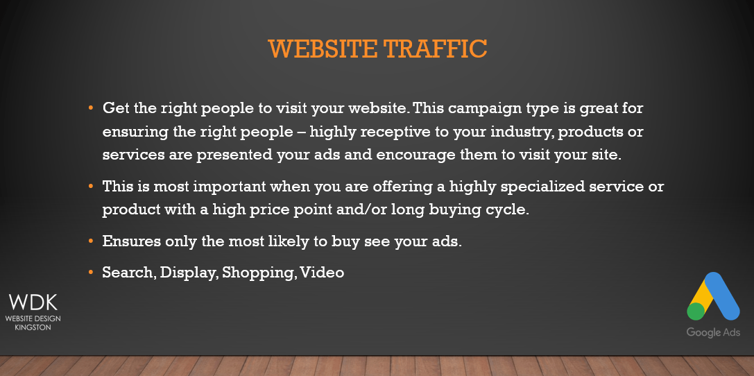 Website Traffic | Google Ads | Website Design Kingston