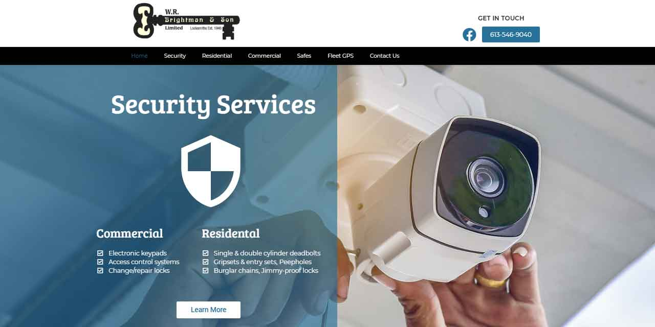 W.R. Brightman & Son   Website Design Kingston